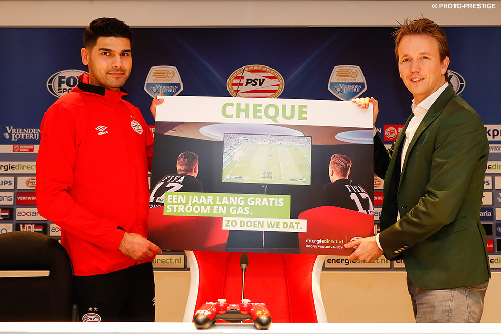 PSV main sponsor energiedirect.nl will support Abdi by providing him with free gas and electricity for one year