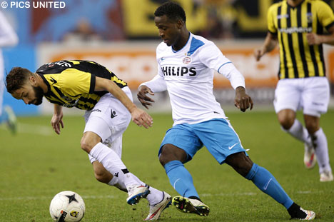Florian Jozefzoon during Saturday's match versus Vitesse.