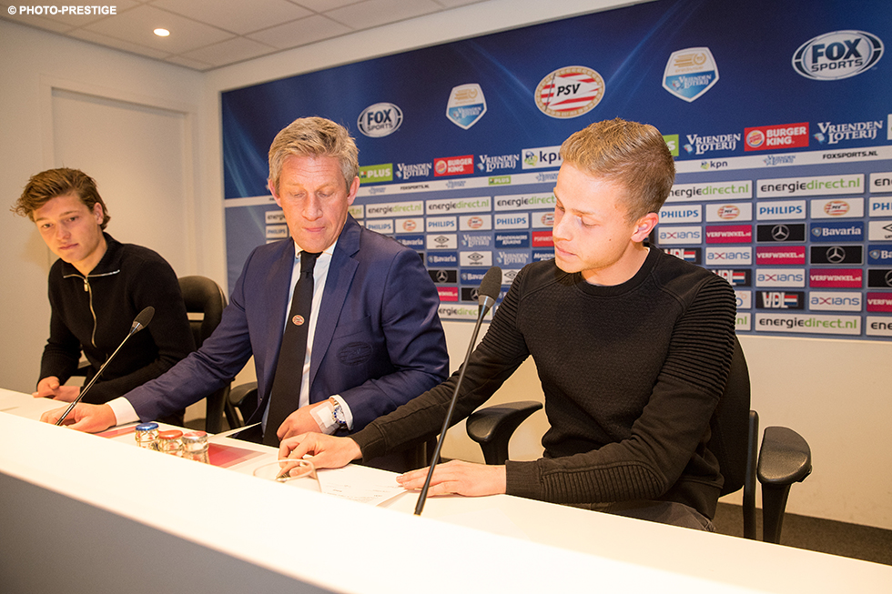 PSV have secured the future of two of their promising young players with Sam Lammers and Dante Rigo signing new contracts on Monday evening | © Photo-Prestige