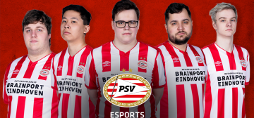Vijf esporters in League of Legends-team PSV