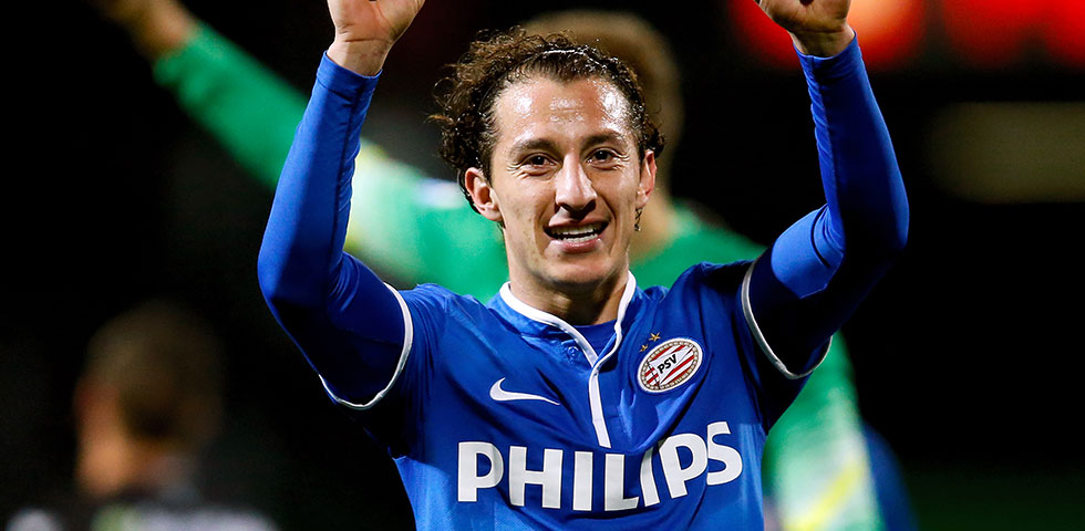 PSV agree terms with Valencia over Andrés Guardado