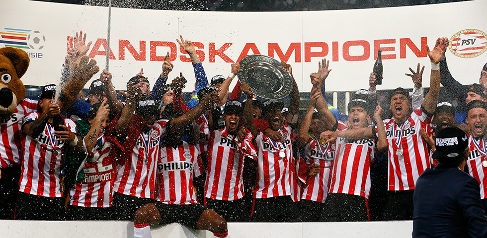 PSV crowned champions in the Philips Stadion