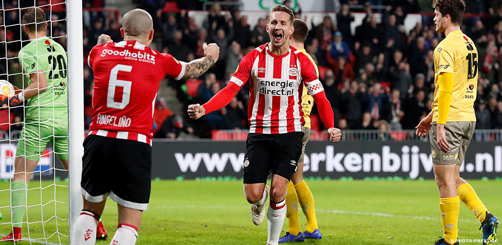 PSV bounce back to winning ways with a 6-0 victory over Excelsior