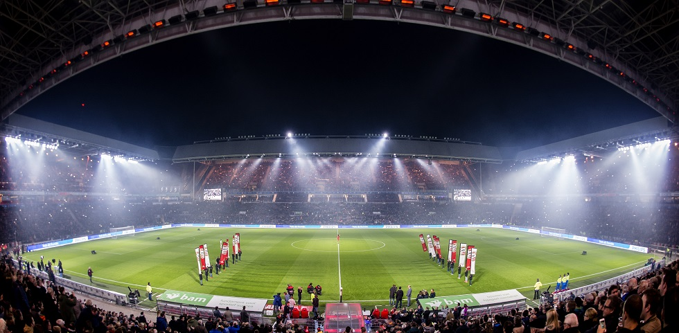 psv trapt af in met led verlicht philips stadion