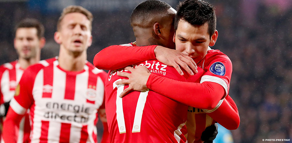 PSV record a narrow 2-1 win against FC Groningen