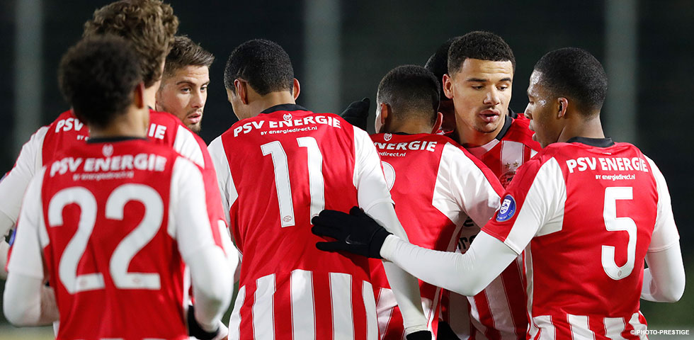 Jong PSV nestelt zich in top Jupiler League